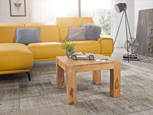 KADIMA DESIGN IABMUM - Mesa de centro de diseño moderno, madera maciza de acacia, 60 cm de ancho, color marrón