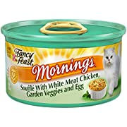Fancy Feast Wet Cat Food, Mornings Souffl, With White Meat Chicken, Garden Veggies And Egg, 3-Ounce Can, Pack Of 24