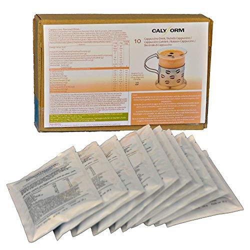 CALYFORM Batidos Proteínas para dieta sabor Capuccino | Bebida proteica en polvo saciante | Proteína dietética de calidad y aporte en aminoácidos esenciales (10 Sobres)