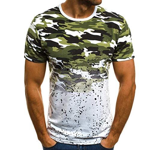 EUZeo EUZeo Herren Mode Farbverlauf Camouflage Muster Tshirts Lässige Kurzarm Sporlich T-shirts Hemd Slim Fit Sweatshirts