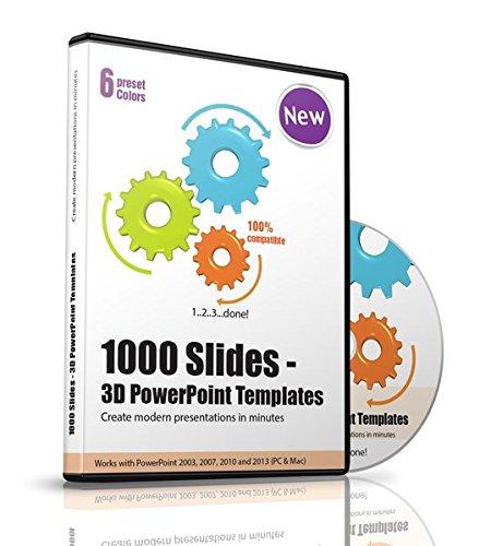 1000 Slides - 1000 PowerPoint 3D Templates, Slides und Charts - Erstellen Sie Präsentationen innerhalb von Minuten - Kompatibel mit PowerPoint 2003, 2007, 2010 und 2013 (PC und MAC)