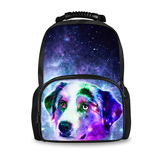 fhdc Rugzak Mannen Reizen Laptop Rugzak 3D Dier Husky Hond afdrukken Rugzakken voor Tiener Jongens Casual School Tas