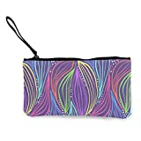XCNGG Geldbörsen Shell Aufbewahrungstasche Abstract Magic Purple Pattern Fashion Coin Purse Bag Canvas Small Change Pouch Multi-Functional Cellphone Bag Wallet Cosmetic Makeup Bag