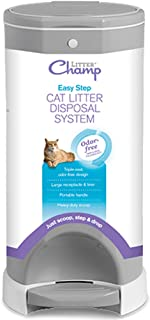 Litter Champ Premium Odor-Free Cat Litter Disposal System, Grey