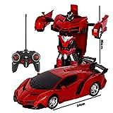 De gran tamaño Coches de control remoto, control remoto 2 en 1 coche, coche de control remoto del robot por el alquiler de coches deportivos de acelerar la transformación del robot de juguete de regal