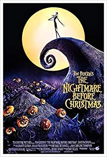 Nightmare Before Christmas - Movie Poster Print by delovely Arts