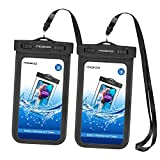 MoKo Waterproof Phone Pouch [2 Pack], Underwater Waterproof Cellphone Case Dry Bag