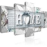 murando Cuadro en Lienzo Home 200x100 cm Impresión de 5 Piezas Material Tejido no Tejido Impresión Artística Imagen Gráfica Decoracion de Pared Madera Blanco Tablas 3D m-C-0251-b-o
