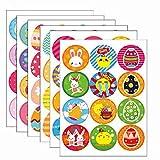 Uovo di pasqua,etichette adesive personalizzate,stickers,Adesivi bambini coniglio uova di pasqua, fai da te, per la Realizzazione di regalo Etichetta Decorazioni (6 fogli)