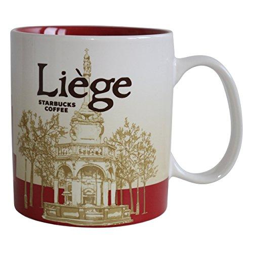 Starbucks Kaffee Tasse City Mug Tee Icon Serie Lüttich Belgien Liege 355ml Keramik