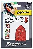 Schleifblatt für Maus – 120 g (5 Stück), Schleiffarbe Kastanienbraun, Schleifmittel Körnung...