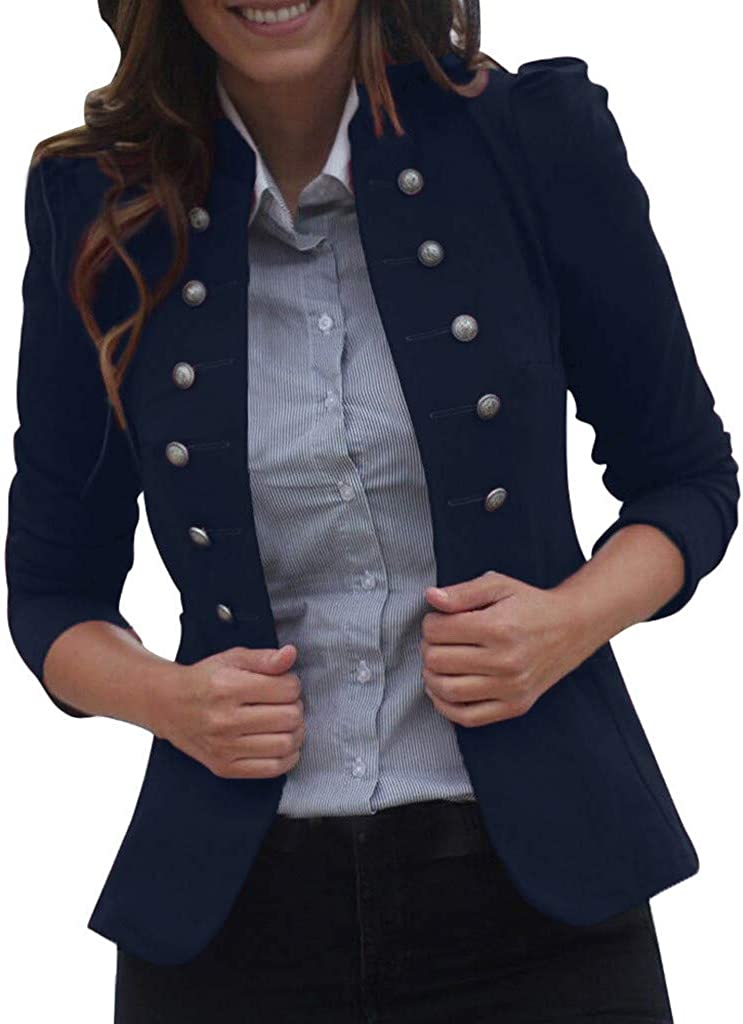 Baltimore Mall Women Double Breasted Jacket Seasonal Wrap Introduction Vintage Open Collar Car Front Stand