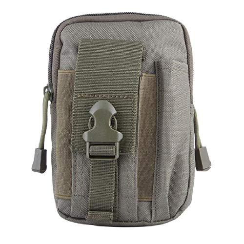 Porte-Outil Polyvalent avec étui pour téléphone Portable pour la randonnée Sportive Ceinture de Camping Couleur Unie Sacs Haute capacité Fanny