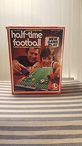 Vintage Half-Time Football Sports Dice Game by Lakeside