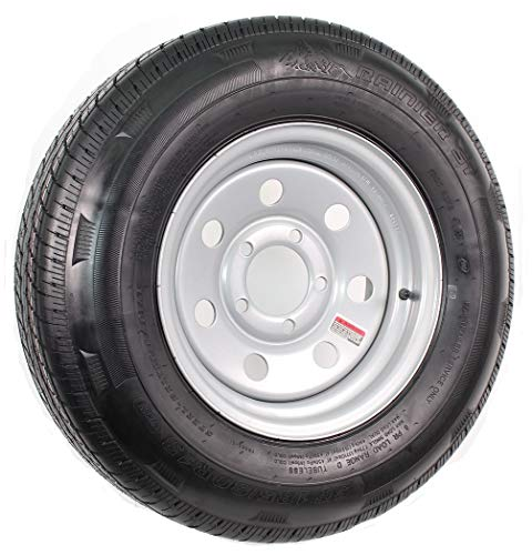 Radial Trailer Tire and Rim ST185/80R13 13X4.5 5-4.5 Silver Modular Wheel