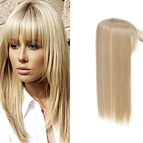 Long Straight Synthetic Clip In Crown Toppers Silky For Women 17...