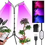 Tomshine Plant Grow Light for Indoor Plants Full Spectrum with Adjustable Tripod Stand,Growing Lamps with 10 Brightness Settings,3 Lighting Modes,4 Heads with Timer and Independently Off/On