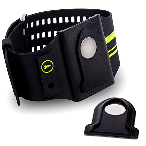 Cellphone Armband - Universal Sports Armband for iPhone Fits All Cell phones, Smartphones&Protective Cases- No-Slip Design for Secure Hold during Running,Biking&Workouts by Lock-N-Go (green)