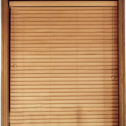 Stores Chinois Modernes en bois Massif avec Rideaux en Bambou, Bambou Naturel de 5 cm, 60/70/80/90/120 cm (l) X150 (h), Fabriqués de Manière Exquise Grâce a Huit Processus, Exquis et Durables