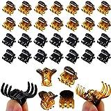 ZOCONE Mini Clip per Capelli Plastica, 100 PCS Artigli per Capelli Donna Mollette per Capelli Mini Pinze per Capelli, Adatto per Ragazze e Donna, Nero e Marrone