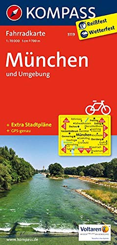 KOMPASS Fahrradkarte München und Umgebung: Fahrradkarte. GPS-genau. 1:70000 (KOMPASS-Fahrradkarten Deutschland, Band 3119)