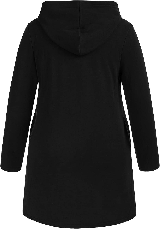 Hanna Nikole Fleece Zip up Hoodie Plus Size Curved Hem Sweatshirt Women Hooded Jacket