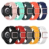 ZSZCXD Compatible with Galaxy Watch 3 41mm, 20mm Width Silicone Strap WatchBand for Samsung Galaxy Watch 3 41mm / Galaxy Watch 42mm / Galaxy Watch Active 2 / Galaxy Watch Active (10 Colors)