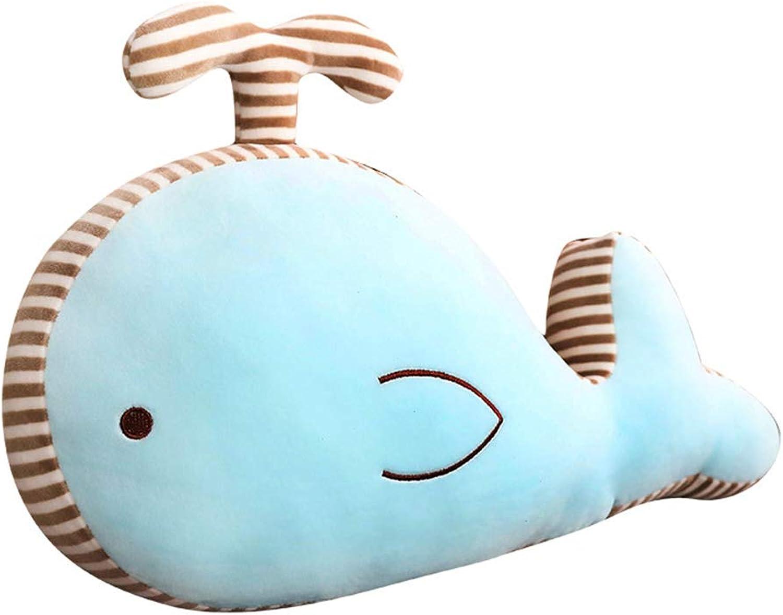 Gfjhgkyu Cartoon Wal Form,weich,Kinderpuppe,gefüllt Wal Puppe weiches Plüschspielzeug Kindergeschenk gefüllte Karikatur Tierweihnachtskissen pink 50cm