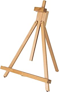 Adjustable 18 to 31-1/2 inch A-Frame Easel Holding Canvas Up to 27 Inches High Medium Portable Beech Wood