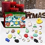 DFDHB 24Pcs / Set Christmas Countdown Calendar Toy, Fidget Advent Calendar Toy Set, Cajas de Regalos Sorpresa Favor de Fiesta de Navidad (1 Juego 310 * 225 * 50 mm)
