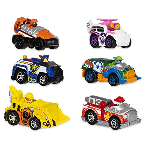 PAW PATROL 6058350 True Metal Classic Gift Pack of 6 Collectible Die-Cast Vehicles, 1:55 Scale, Multicoloured