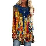 Rouped Jerseys Anchos Largos Tie Dye - Túnica Floryday Camisetas y2k Manga Larga Mujer Tallas Grandes : S - XXL Blusones Mujer Elegantes,RC1028