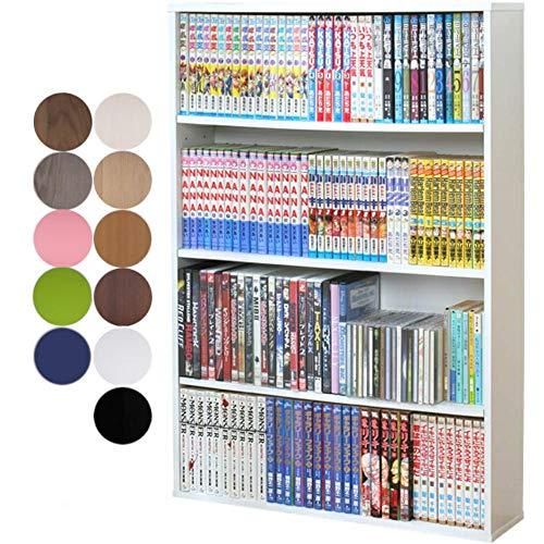 アイリスオーヤマ 本棚 コミック ラック 幅60.1×奥行15×高さ86cm ホワイト CORK-9060