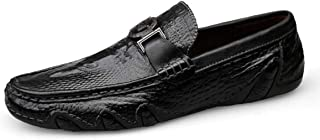 Crocodile Skin Loafer Shoes Men Genuine Leather Slip-on Moccasins Handmade Man Casual Shoes Drive Walk Luxury Leisure