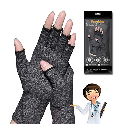 Arthritis Gloves,New Material, Compression for Arthritis Pain Relief Rheumatoid Osteoarthritis and Carpal Tunnel, Premium Compression & Fingerless Gloves for Typing and Daily Work(L size, 1pair)