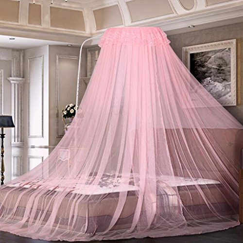 Muggennet MEIDUO Polyester Eendeurs Vloerstaande Koepel Verstelbare Gegalvaniseerde IJzeren Beugel Gratis Punch Size Bed Universele Insect Fly Protection Screen,