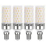 Bombillas LED Maiz E14 12W Blanco Frio 6000K, 1450LM, Equivalente Lámpara Halógena E14 100W, Luz de 360 Grados, 230V, E14 LED Luz Fria para Lámpara de Techo, No Regulable, pack de 4