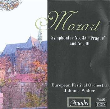 """Mozart: Symphonies Nos. 38, """"Prague"""" & 40"""