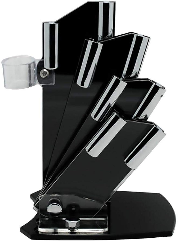 Messerblock Schwarz Messerhalter Küchenregal Küche Messerset Universal - Acrylic Halbsektor Halbsektor Halbsektor - 3, 4, 5, 6 Inch Für Keramik Küchenmesser Obstmesser B07GPN5Z52 9c241e