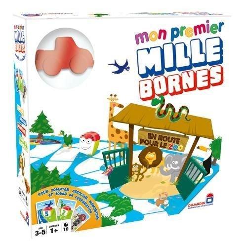 Dujardin 59001Brettspiel Mein 1. Mille Bornes–Auf zum Zoo, französisches Gesellschaftsspiel