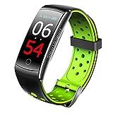 Souarts Montre Connectée Femmes Homme Smartwatch Montre Intelligente Bluetooth Compteur de Pas Électronique Bracelet de Rappel d'informations Sportives pour Ecran(Vert)