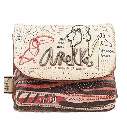 ANEKKE | Monedero con Solapa Safari Fusion | Moderno, Casual y a la Moda | para Mujeres | Ideal para el Día a Día u Ocasiones Especiales