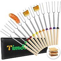 12-Pieces Timok Marshmallow Roasting Sticks Smores Skewers