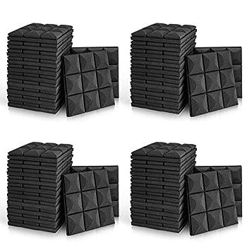 48 Pack - Acoustic Foam Panels 2  X 12  X 12  Mushroom Studio Wedge Tiles Sound Panels wedges Soundproof Sound Insulation Absorbing 9 Block Mushroom Design
