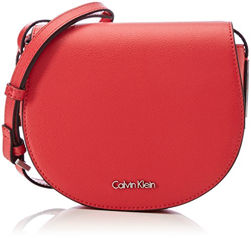 Calvin Klein Frame Saddle Bag - Borse a tracolla Donna, Rosso (Scarlet), 5x16x19 cm (B x H T)