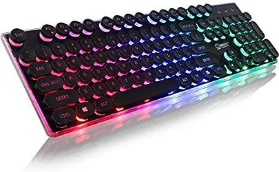 Mishuai Beleuchtete Spieletastatur verdrahteter Laptop USB-mechanische Gef hltastatur professionelle Spieltastatur