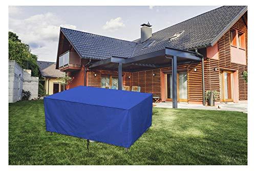 Abdeckung für Gartenmöbel,210D Oxford-Gewebe Regenschutz und Staubfest wasserdichte Schutzhülle,für Gartentische, Stühle und Möbelsets,366x220x120cm,Blau