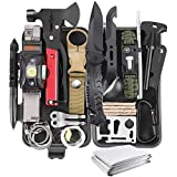Gifts for Men Dad Husband Boyfriend, 30 in 1 Survival Gear and Equipment, Emergency Survival Kit...