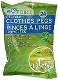 Ecoforce Reciclado Pinzas de ropa de plástico, 24Pack