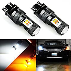 "Compatible for both standard and ck socket .The turn signal flashes ""amber-off-amber-off,"" instead of ""amber-white-amber-white,"" which makes it easier to see.( most switchback bulb on the market flash amber-white-amber-white ) Fits: 3157 3157A 3057 3..."